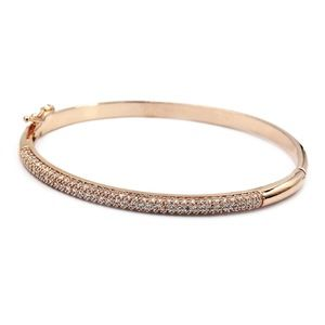 Fashion rose gold micro-small crystal bracelet